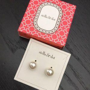 Stella & Dot Double Sided Pearl Earrings